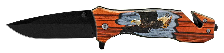 4.5 in Outdoorsman Rescue Folding Pocket Knife - Flying Eagle