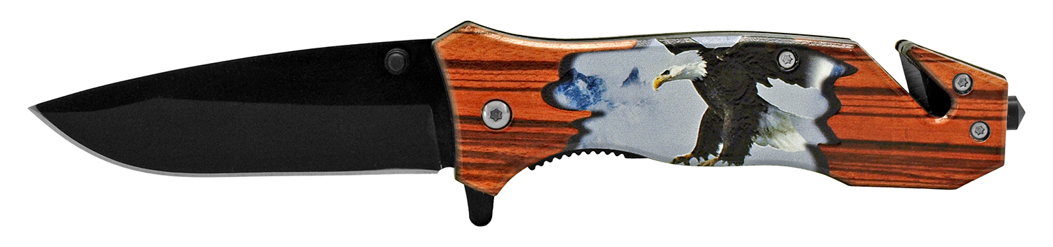 4.5 in Outdoorsman Rescue Folding Pocket Knife - Hunting Eagle