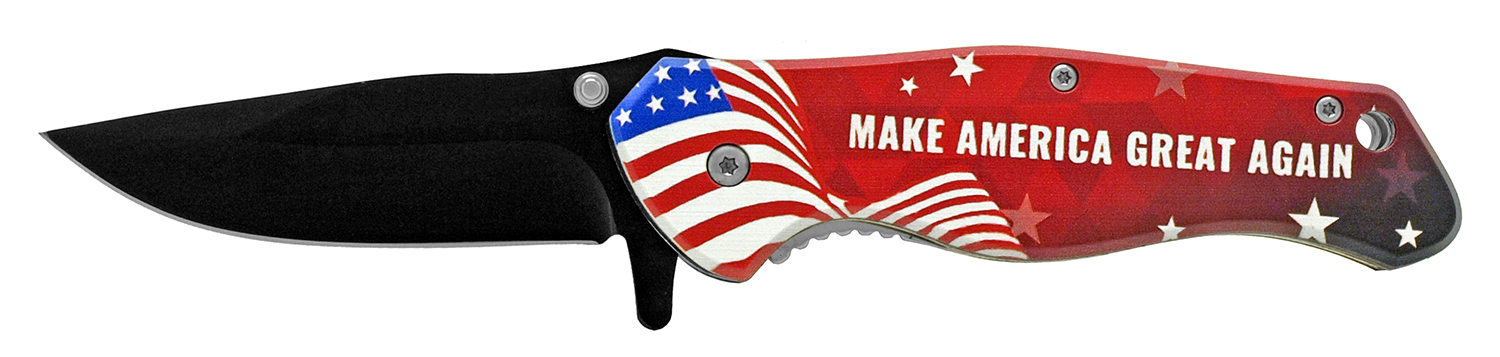 4.63 in President Trump Campaign Folding Pocket Knife - Make America Great Again