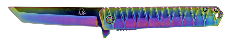 4.63 in Heavy Duty Stainless Steel Folding Pocket Knife - Titanium