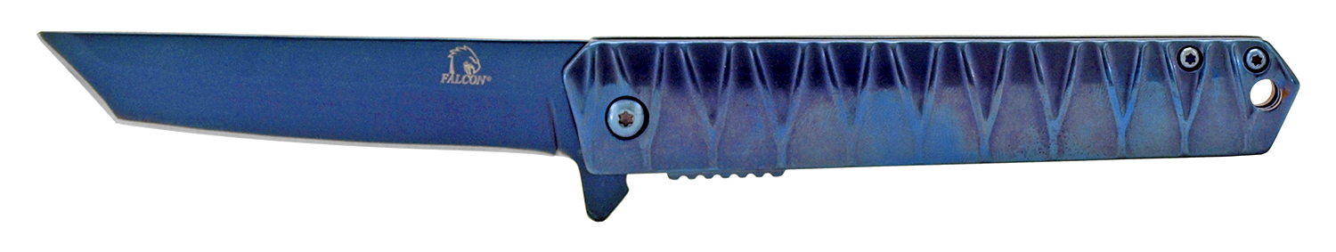 4.63 in Heavy Duty Stainless Steel Folding Pocket Knife - Blue