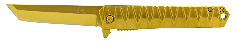 4.63 in Heavy Duty Stainless Steel Folding Pocket Knife - Golden