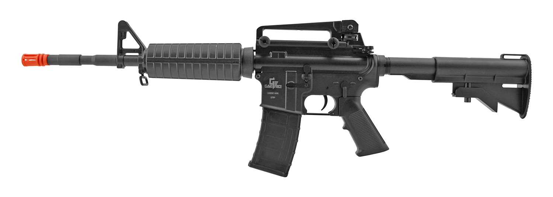 Game Face GFM4 Electric Powered AEG AR-15 Assault Rifle Style Airsoft Gun - Black