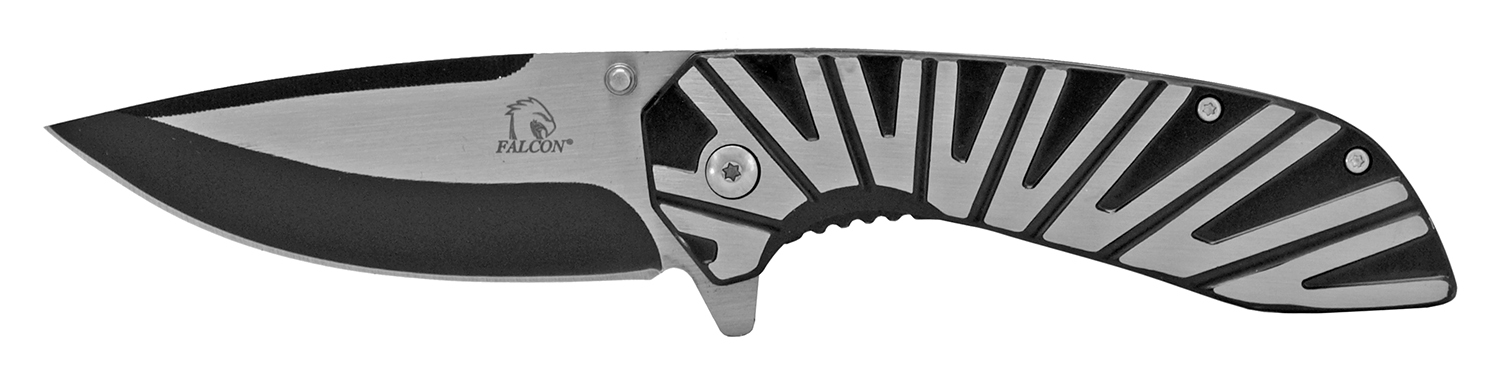 4.75 in Heavy Duty Egyptian Wing Stainless Steel Folding Pocket Knife - Black