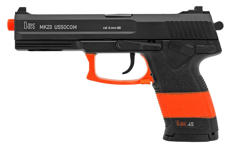 Heckler & Koch MK23 USSOCOM Spring Powered Airsoft Pistol - Black