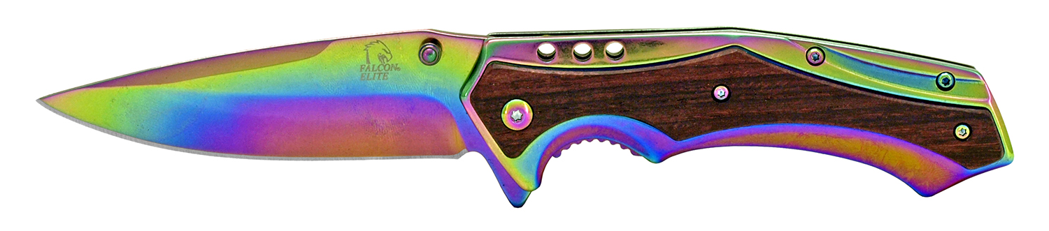 4.75 in Stainless Steel Elite Pocket Knife - Titanium and Wood
