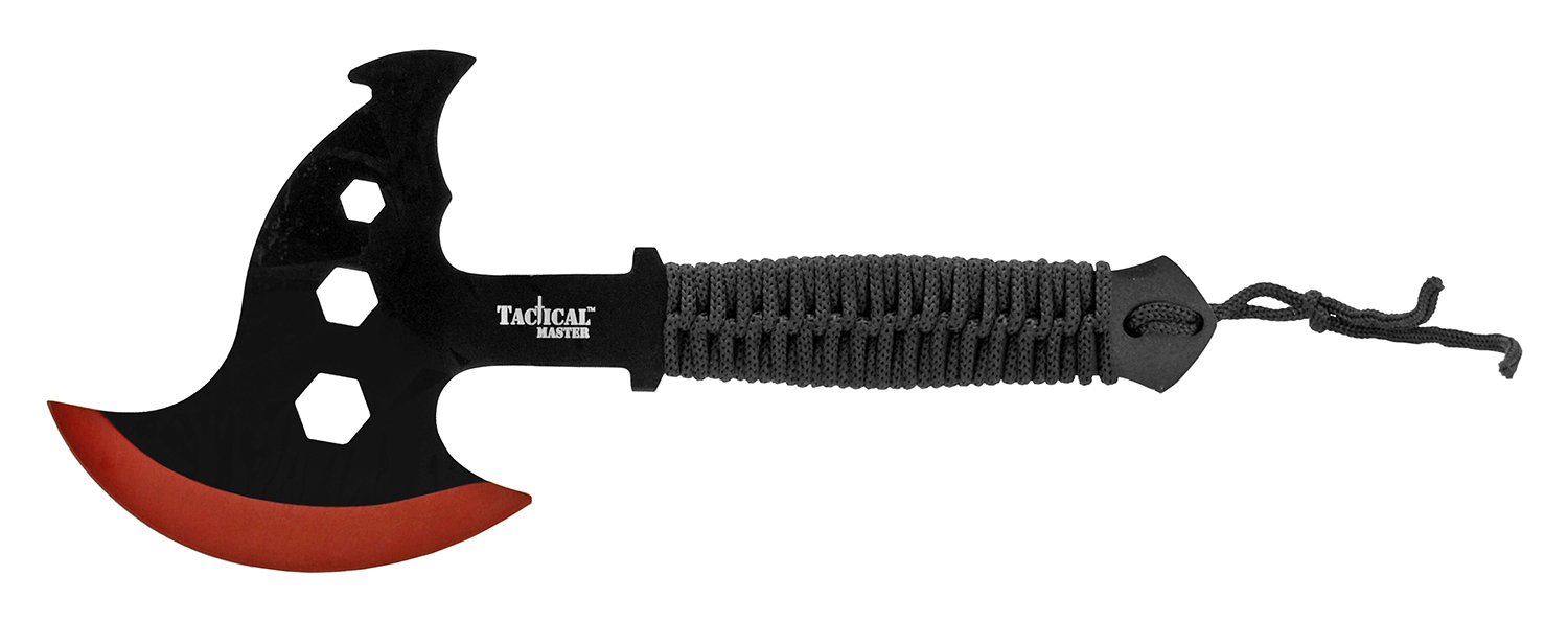 12 in Tactical Master Throwing Axe - Red