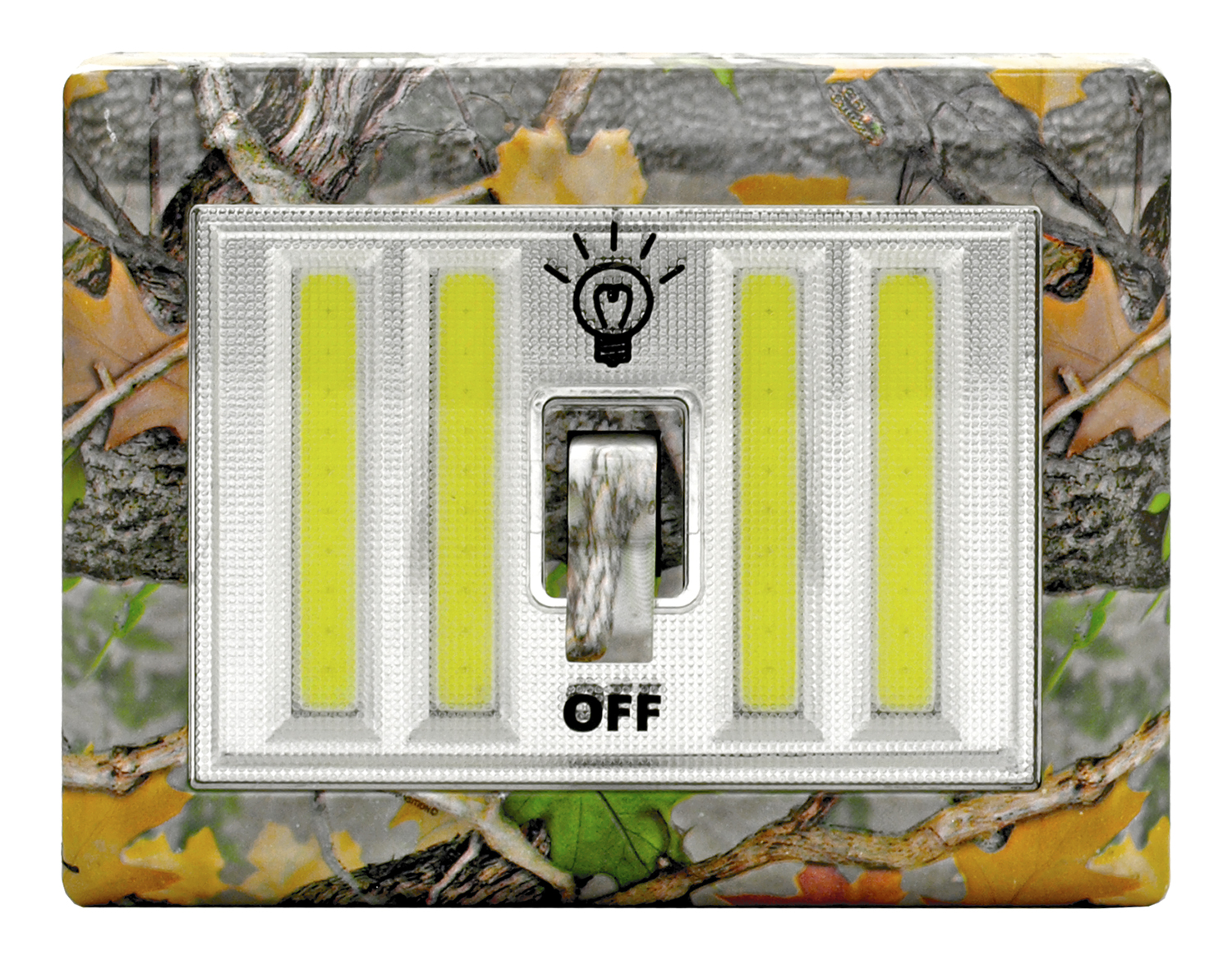 Wall Mount Quad LED Light Switch Night Light - Woodland Camo