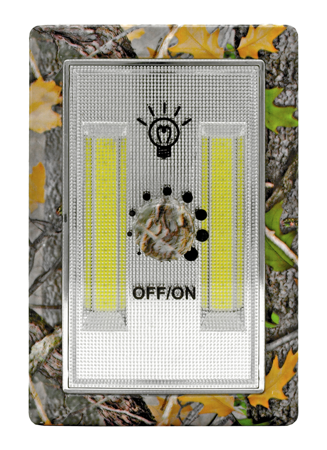 Wall Mount LED Light Dimmer Switch Night Light -Woodland Camo