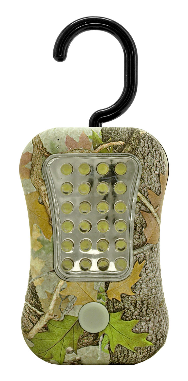 Hanging LED Work Light with Dual Function - Woodland Camo