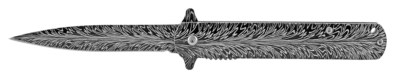 4.5 in Stainless Steel Stiletto Pocket Knife - Blade Burst