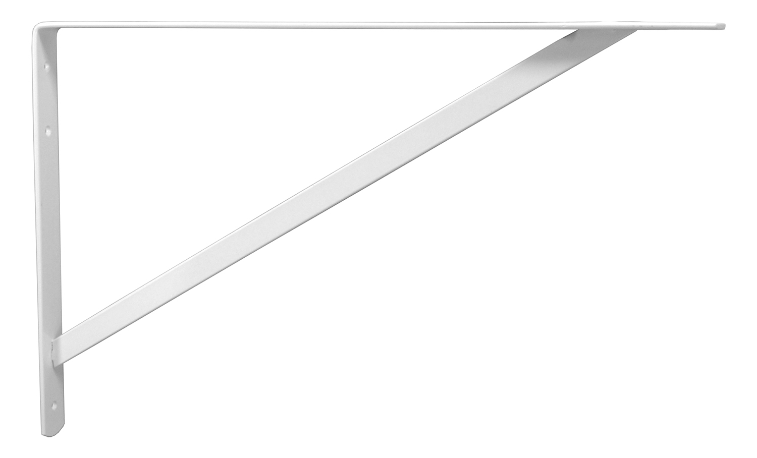 13 in x 20 in White Shelf L Bracket with Strut