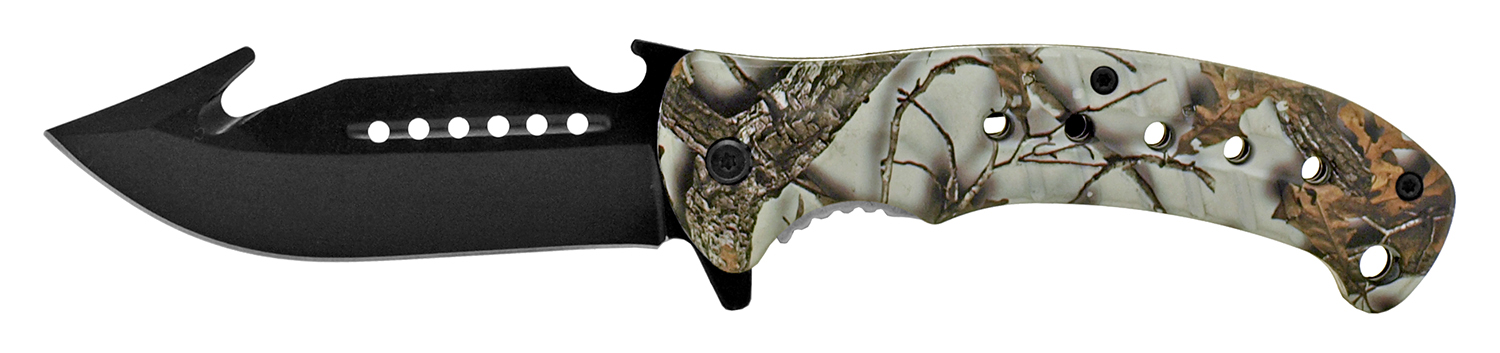 5 in Hunter's Helper Pocket Knife - Snow Camo