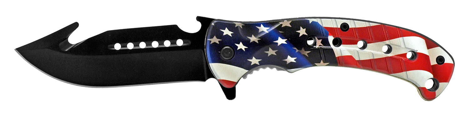 5 in Hunter's Helper Pocket Knife - US Flag