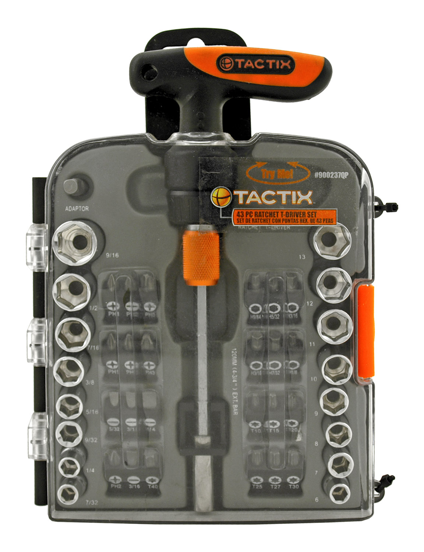 43 - pc. Ratchet Driver and Bit Set - Tatcix #900237QP