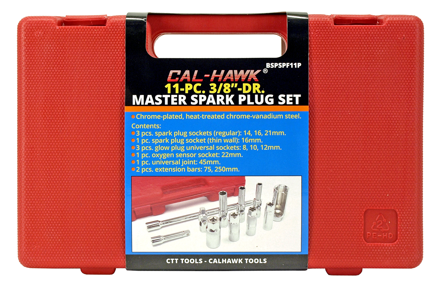 11 - pc. 3/8 in DR. Master Spark Plug Set
