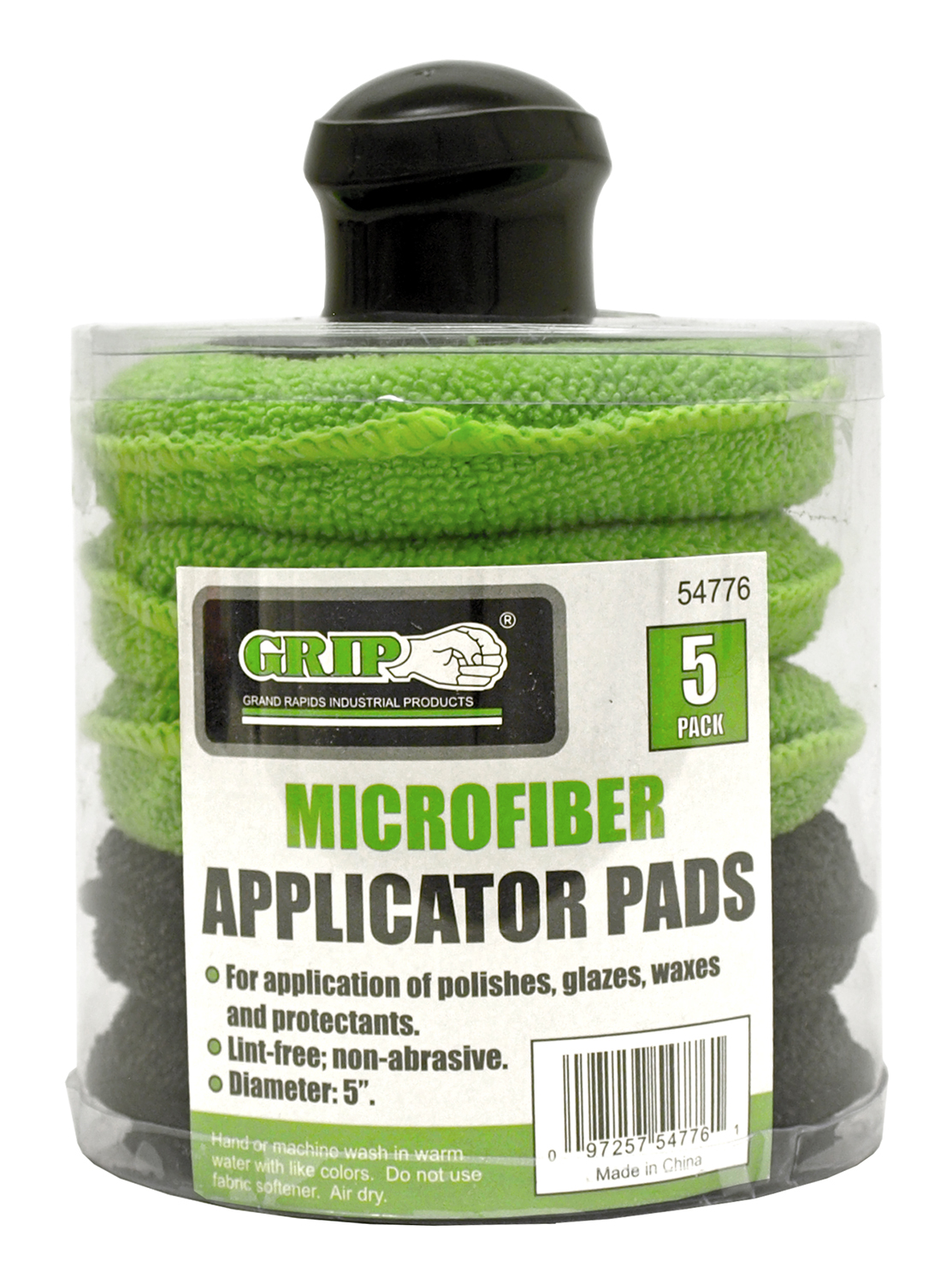 5 - pk. Microfiber Applicator Pads with Handle - Grip