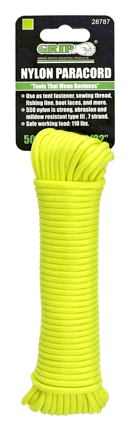50' Nylon Paracord 5/32 in - Grip