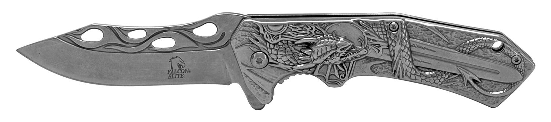 4.75 in Stainless Steel Dragon Slayer Pocket Knife - Chrome