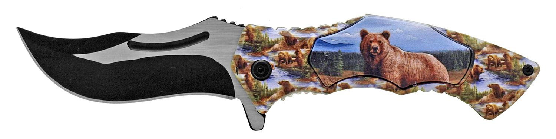 4.88 in Stainless Steel Artisan Pocket Knife - Bear