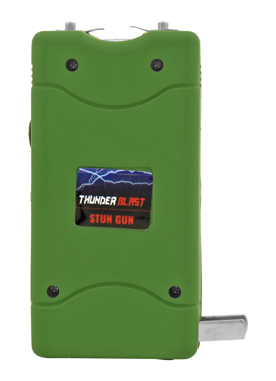Thunder Blast Stun Gun Flashlight with Carrying Case - Green