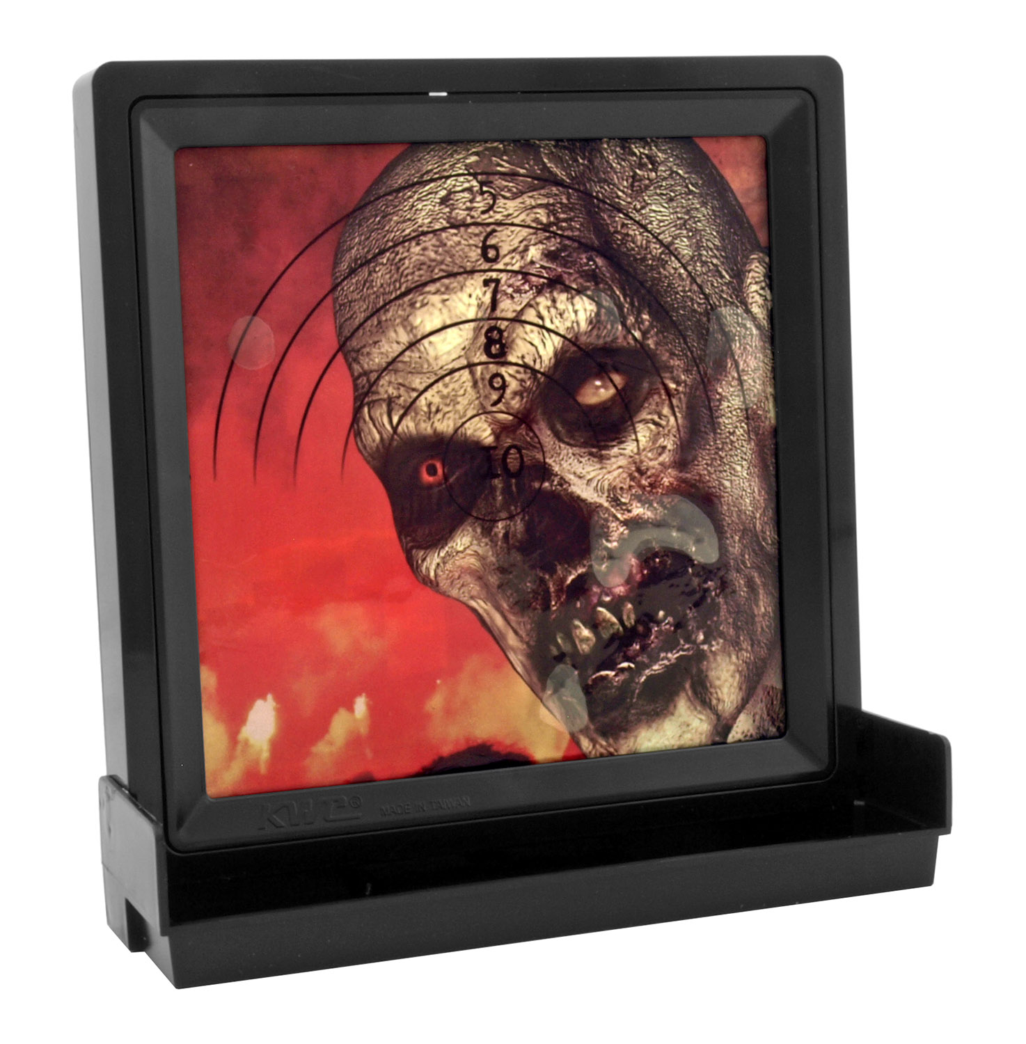 Zombie Hunter Airsoft BB Gel Target with BB Collection Tray