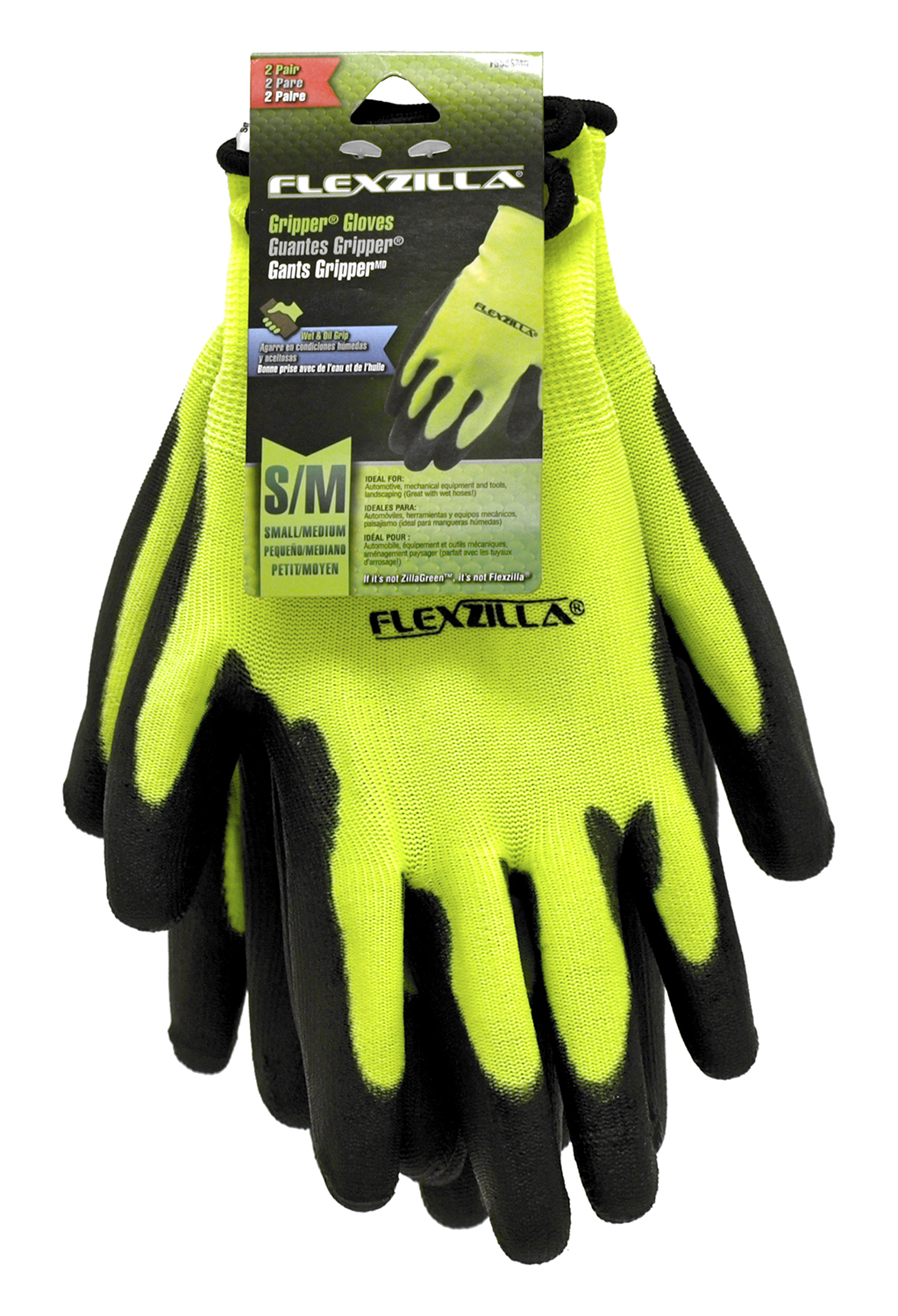 2 - Pair Flexzilla Gripper Gloves - Small / Medium