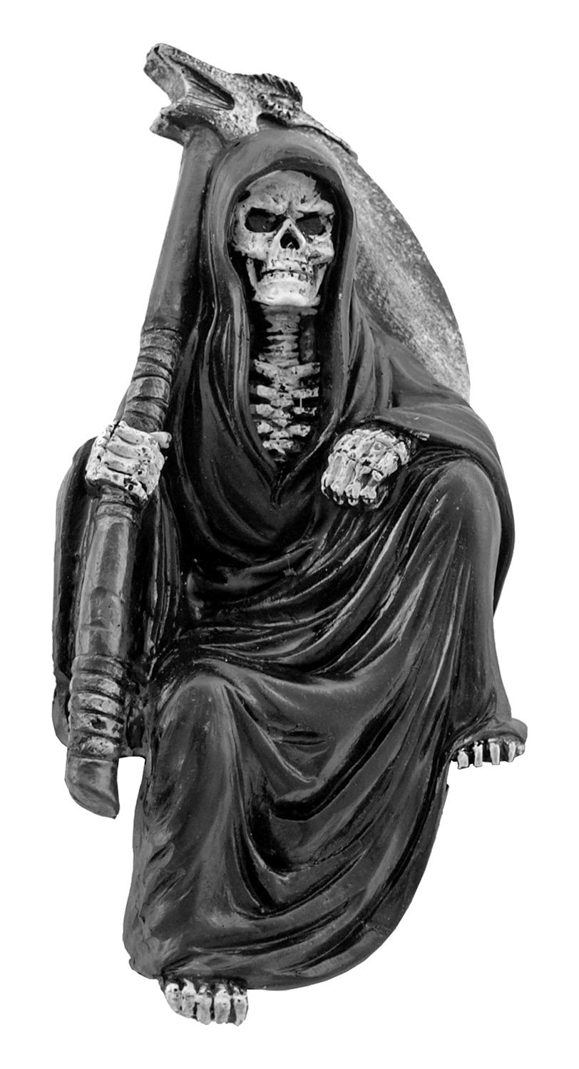 Nothing but Time Grim Reaper Father Time Statue Figurine with Sickle - DWK