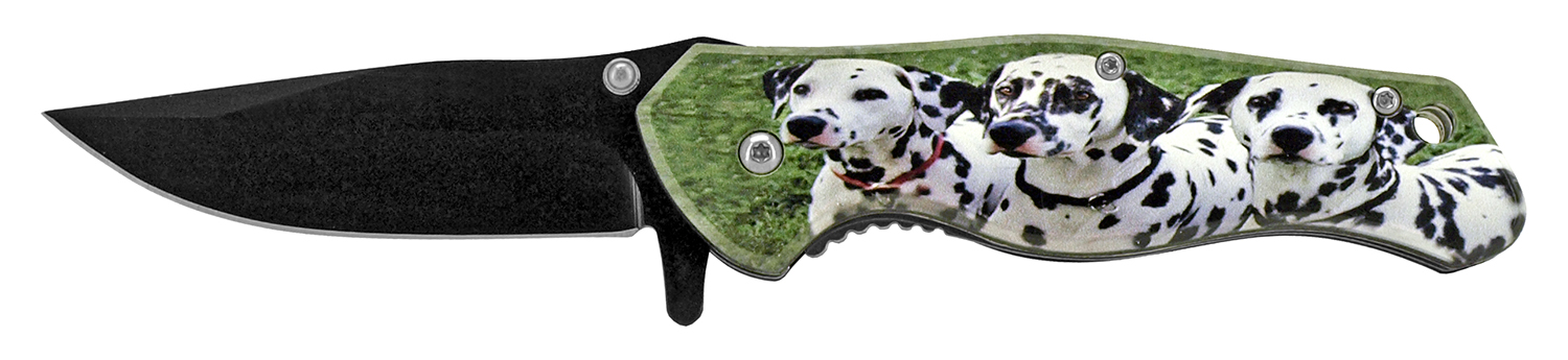 4.75 in Stainless Steel Pocket Knife - Dalmatian