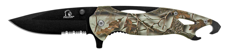 4.75 in Bottle Opener Pocket Knife - Snow Camo