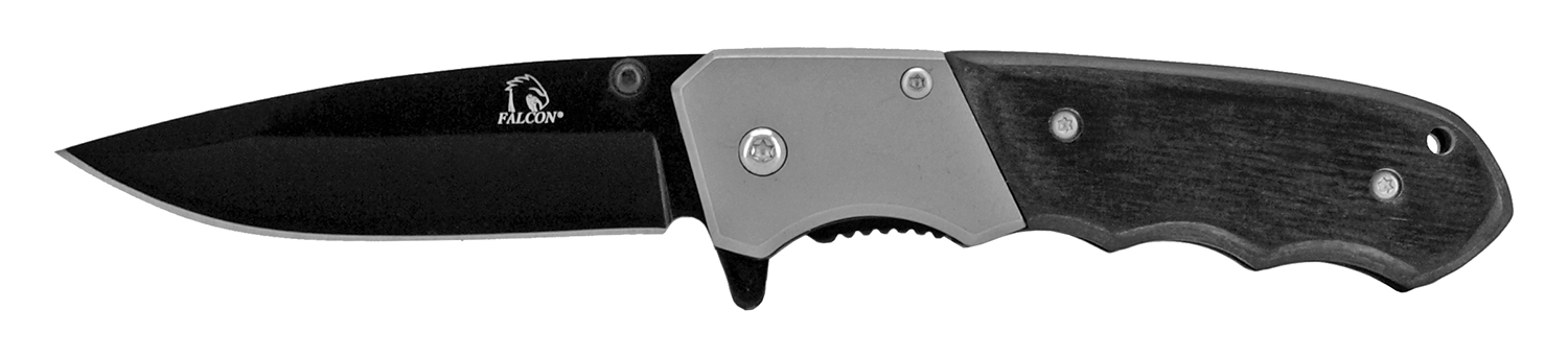 4 in Traditional Stainless Steel Pocket Knife - Black