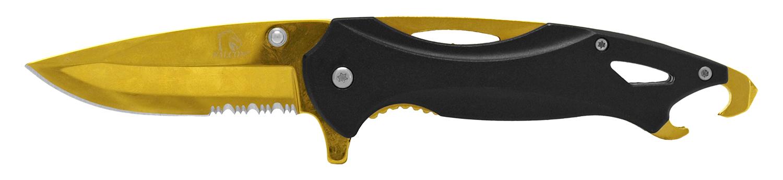 4.75 in Bottle Opener Pocket Knife - Golden