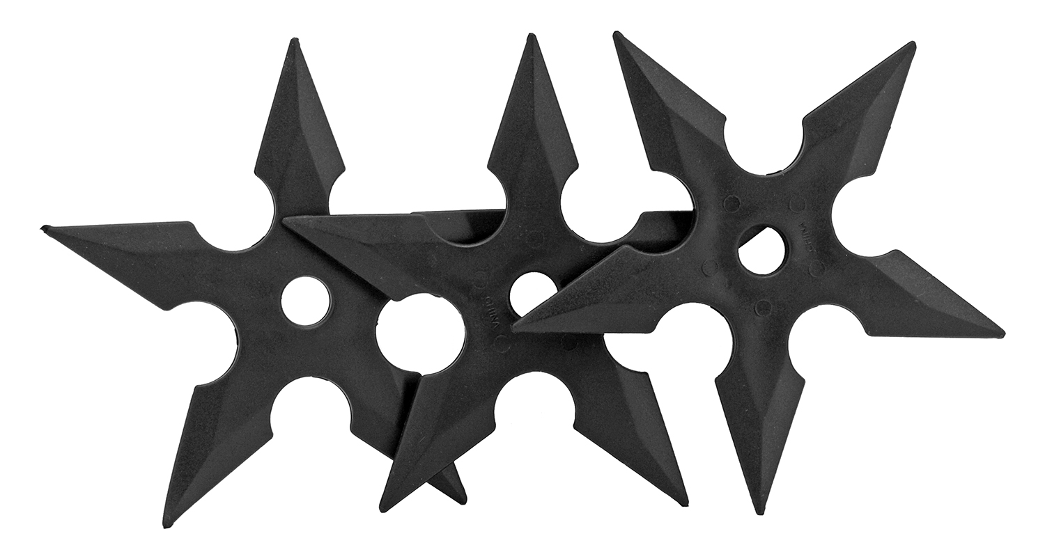4.88 in 5 Point Ninja Throwing Star Set - Black