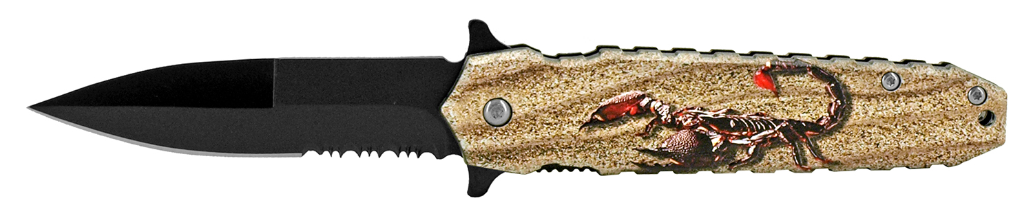 4.75 in Spring Assisted Pocket Knife - Scorpion