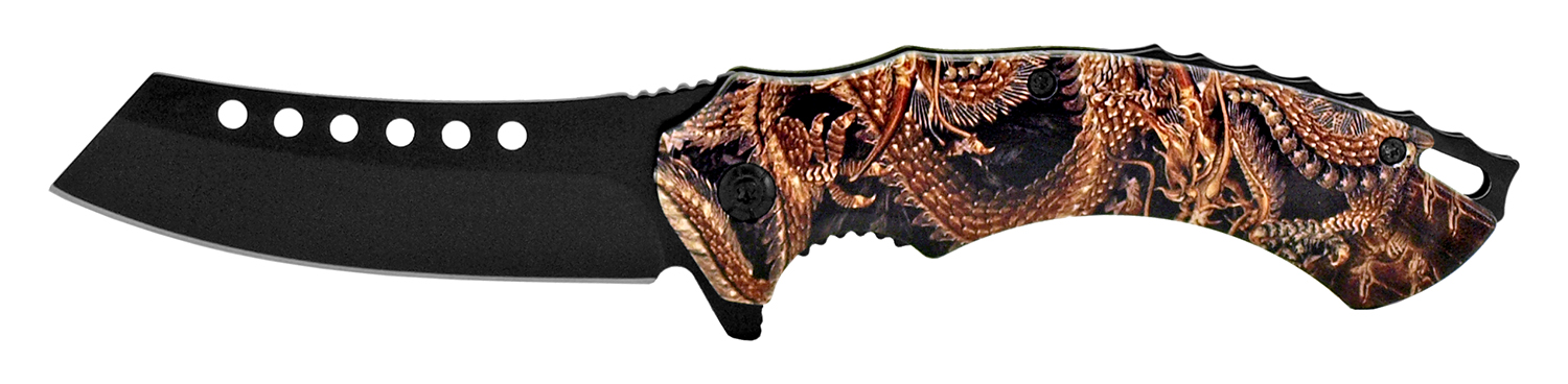 4.75 in Butcher's Pocket Knife - Dragon