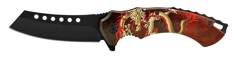 4.75 in Butcher's Pocket Knife - Red Dragon
