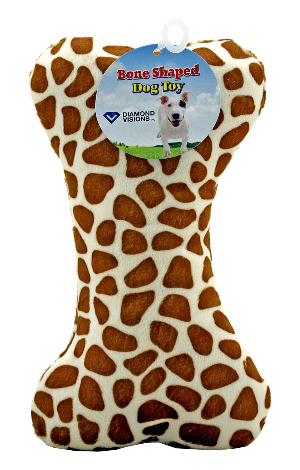 Bone Shaped Light Weight Plush Dog Toy with Squeeker for Large and Small Dogs - Diamond Visions