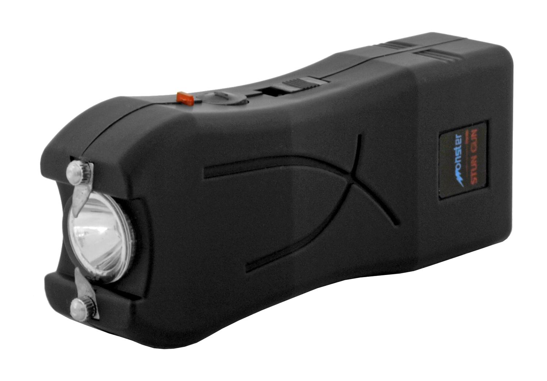 Rechargeable Monster Mini LED Flashlight and Stun Gun - Black