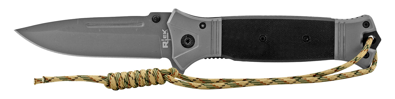 5 in G10 Paracord Folding Survival Pocket Knife - Black