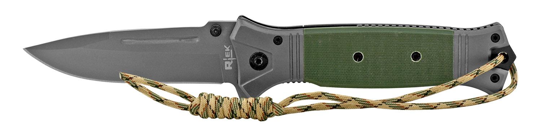 5 in G10 Paracord Folding Survival Pocket Knife - Green