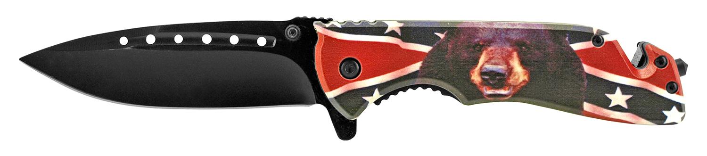 5 in Confederate Bear Folding Pocket Knife