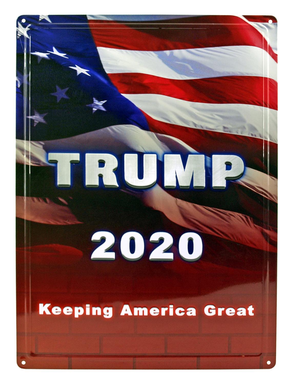 President Trump 2020 Keeping America Great Tin Metal Sign