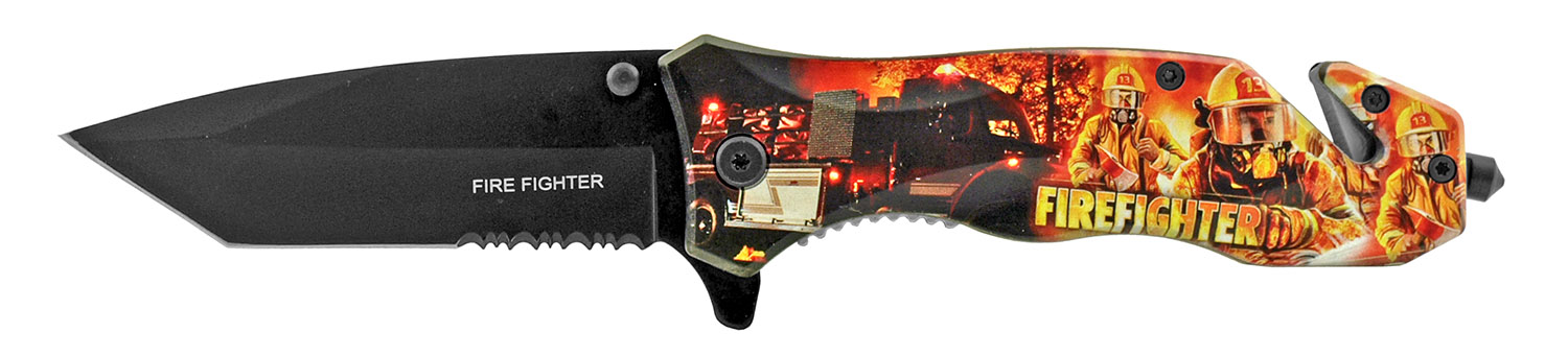 4.75 in Fire Fighters First Responders Folding Survival Pocket Knife