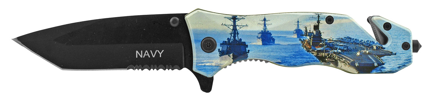 4.75 in United States Navy Aircraft Carrier Folding Survival Pocket Knife