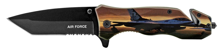 4.75 in United States Air Force F-22 Fighter Jet Folding Survival Pocket Knife