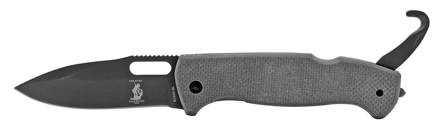 4.75 in G10 Folding Tactical Camping Pocket Knife with Bottle Opener - Grey