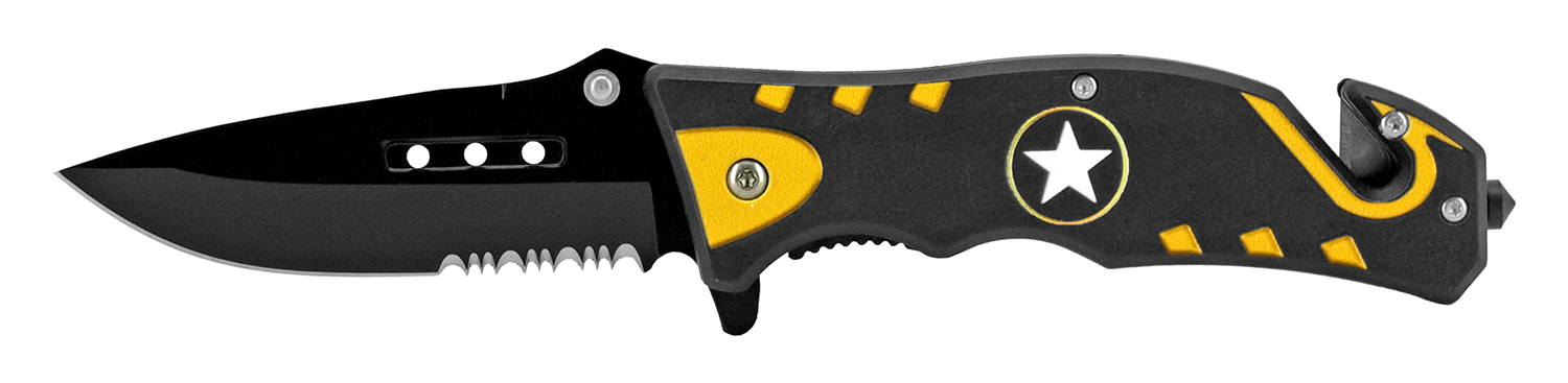 4.75 in Tactical Rescue Pocket Knife - Army Star