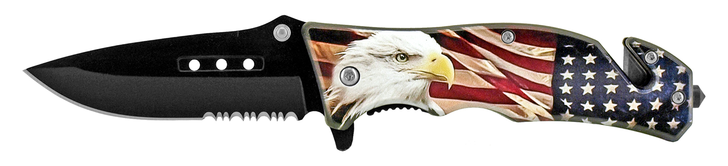 4.75 in Tactical Rescue Pocket Knife - American Eagle