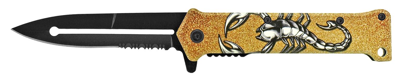 4.63 in Stiletto Folding Pocket Knife - Scorpion