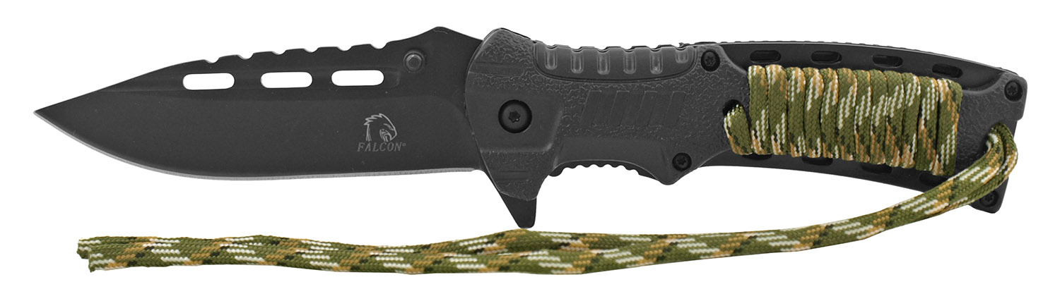 4.75 in Classic Outdoorsman Paracord Folding Pocket Knife - Black